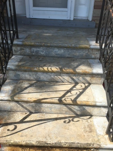 Outdoor steps before image