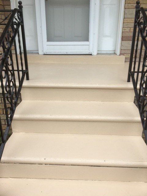 Outdoor steps after image
